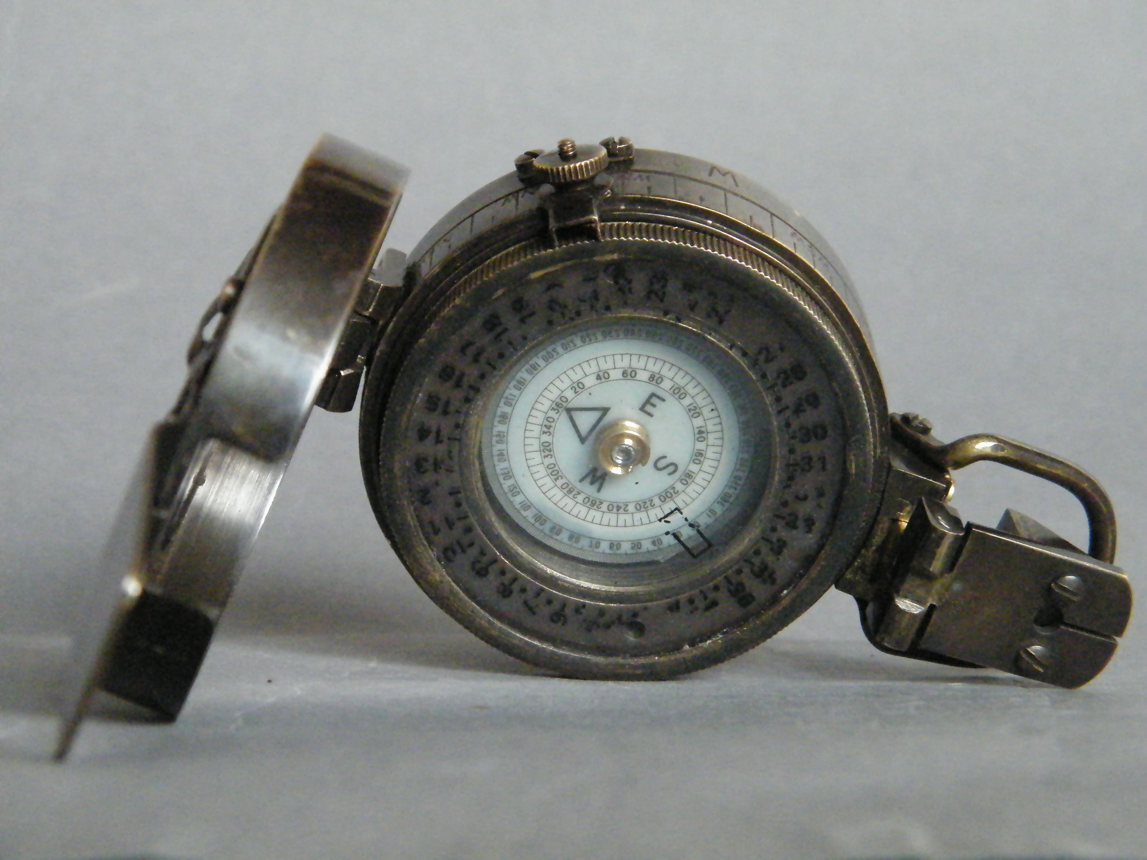 #1644  WWII Mark III Brass Military Compass  **SOLD** December 2017