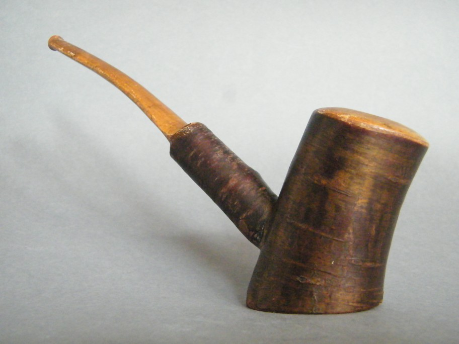 #1360 Large Birch Wood Pipe, circa 1900-1950  **SOLD** through our Liverpool shop  November 2016