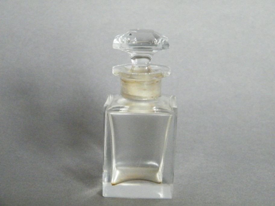 #1292 Cut Glass Baccarat Crystal Perfume Bottle, circa 1895-1910  **SOLD** November 2017