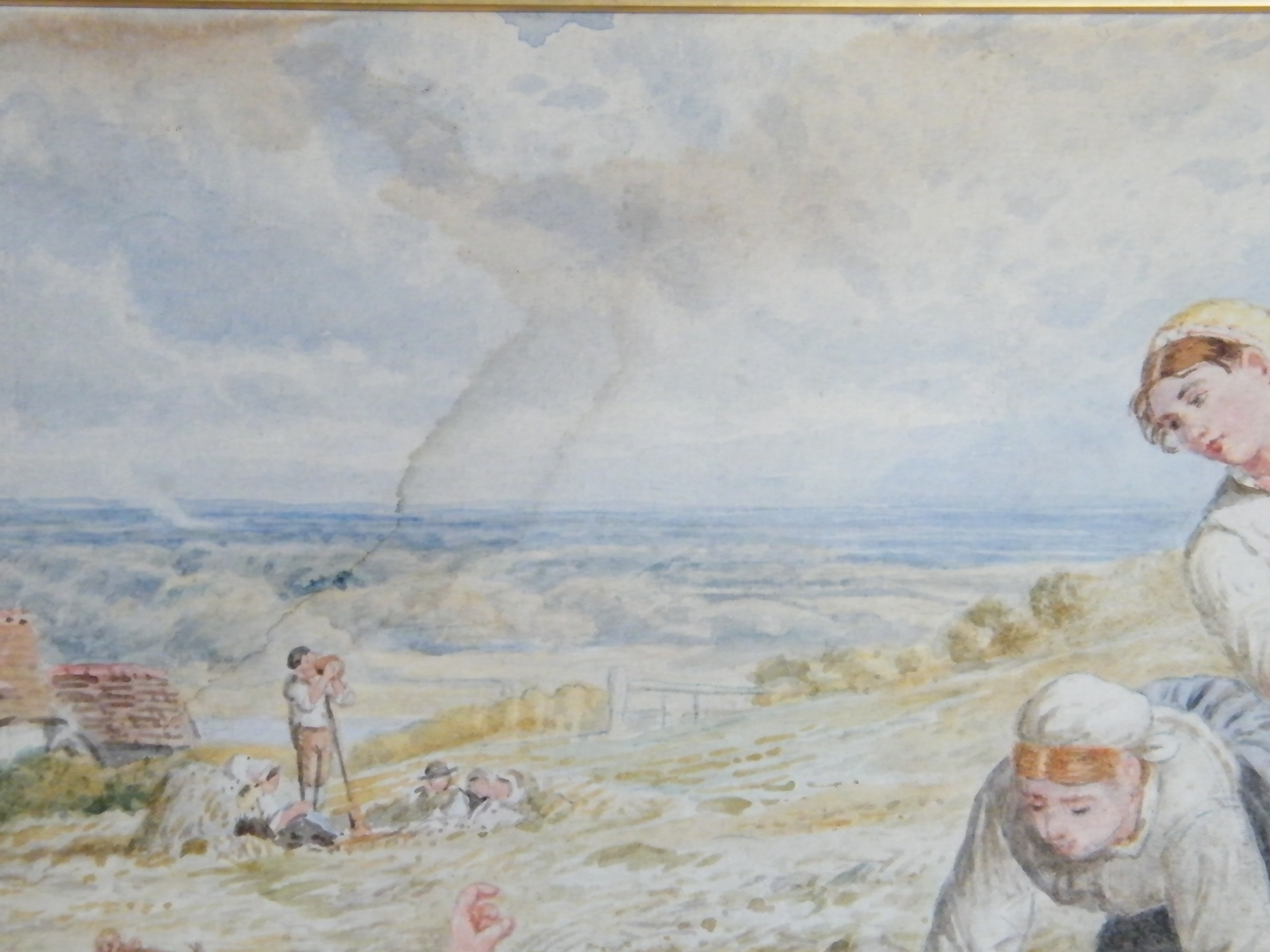 #1515  Victorian Watercolour Painting by Myles Birket Foster R.W.S. c1875  **Price on Request**
