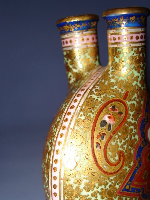 #0090 19th Century Coalport Persian Style Scent Bottle **Sold** through our Liverpool Shop