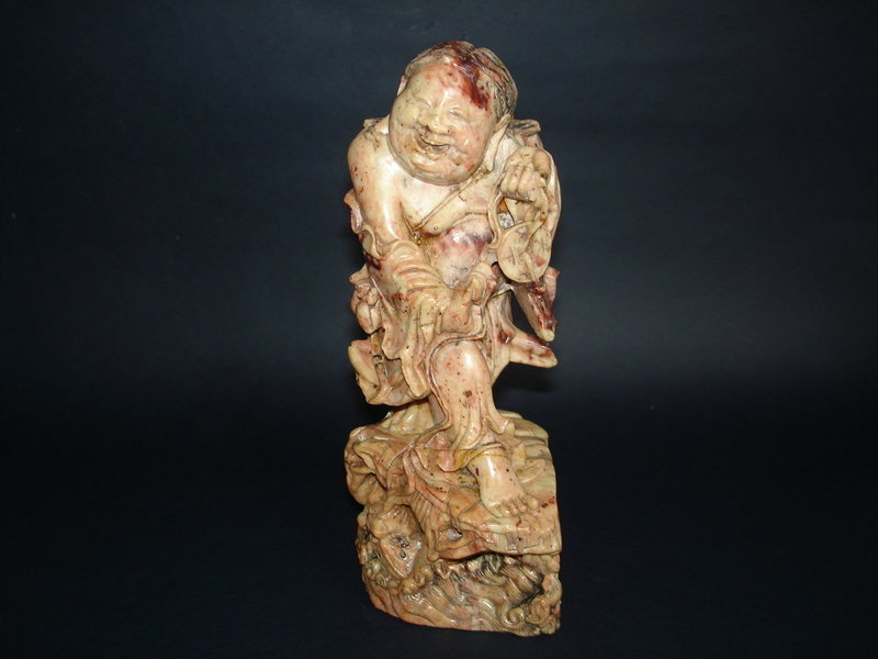 #0026 Rare 18thCentury Chinese Soapstone Carving - Liu Hai **Sold**to USA Oct 07 售至美国 - 2007年10月