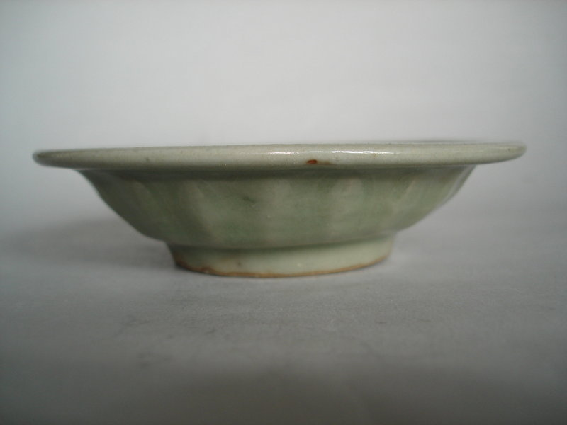 #0203  Chinese Longquan Green Ware 'Marraige' Dish - Yuan Dynasty (AD 1279-1368)  **Sold** through our Liverpool shop - February 2011 利物浦店内售出 - 2011年2月