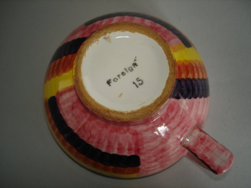 #1529  Art Deco Cup and Saucer by Eva Stricker, designed 1928-1930  **Sold**