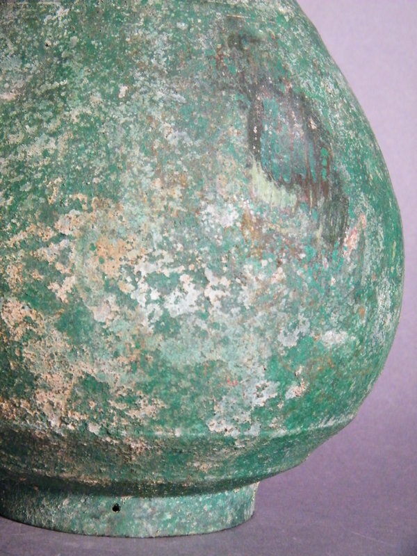 #0960  Rare Korean Bronze Pear-shaped Vase Koryo (936-1392)  *Price on Request*