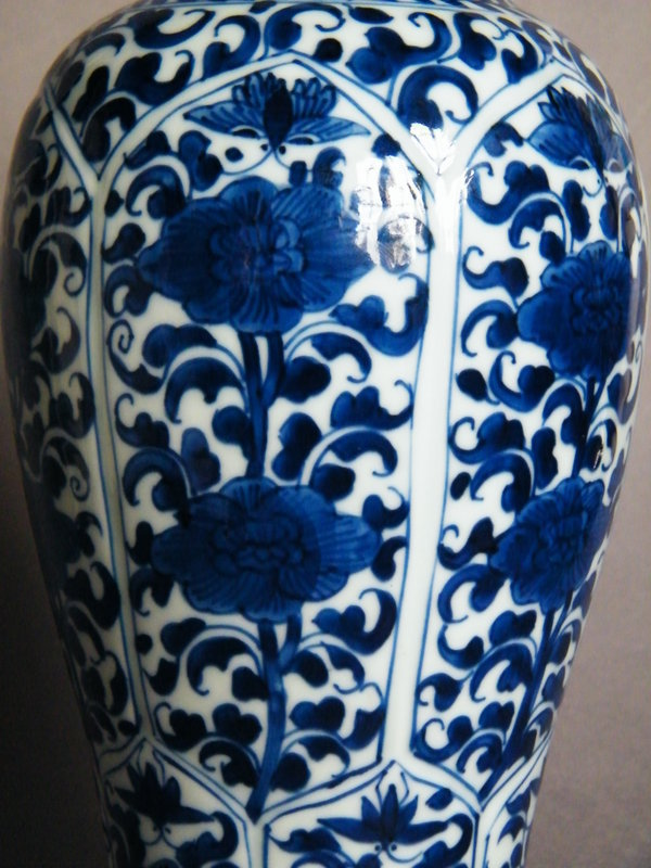 #0972  Fine 17th/18th Cent Blue & White Chinese Vase Kangxi Reign (1662-1722) **Sold** in our Liverpool Shop - December 2016