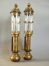 #1667  Pair of Great Western Railway Carriage Lamps, circa 1970s