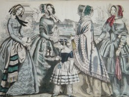 #1685 Hand Coloured 'Latest Paris Fashions'Print,, circa 1850s **Sold** 2018
