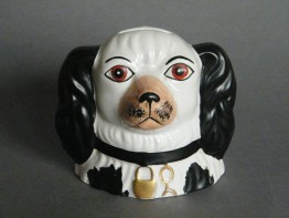 #1681   Pottery Staffordshire Dog Money Box, probably 20th Century