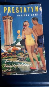 #1800  1953 Prestatyn Holiday Camp Fold Out Brochure  **Sold**  October 2020