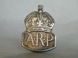 #1664  Sterling Silver Air Raid Precautions Badge