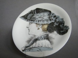 "#1461 ""Porcelaine de Paris"" Victorian Style French Fashion Dish, circa 1960s"