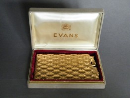 #0910 Cased 1950s Evans Combination Cigarette Case & Lighter **SOLD**