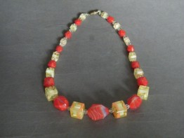 #0966 Art Deco Glass Necklace, circa 1930s **SOLD**