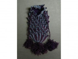 #0969 Victorian Lady's Purple Beaded Crocheted Purse, circa 1875