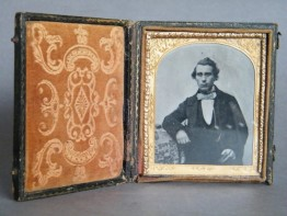 #1425 Early Victorian Daguerreotype Portrait of a Gentleman, circa 1840 - 1860 **SOLD** December 2016