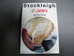 #1440 1960s British European Airways & Stockleigh Stockings Advertising Card