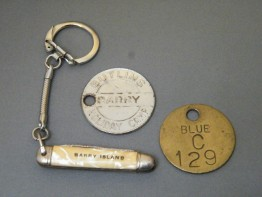 #1683  Butlin's Barry Island Key Fobs and Penknife, circa 1950s - 1960s, **Sold** February 2018