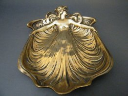 #1723  WMF Style Art Nouveau Brass Dish or Ashtray, circa 1905   **Sold**  September 2018