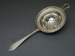 #1686   Sterling Silver Tea Strainer, London 1919  **Sold** February 2019