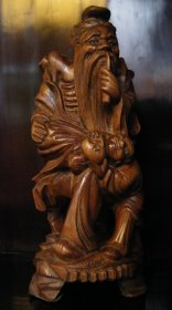 #1852  Chinese Export Hardwood Carving, circa 1880-1910