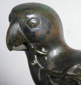 #1818  Very Rare Early 17th Century Chinese Bronze Parrot Incense Burner,   **Price on Request**