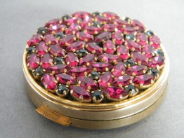 "#0643 ""Jeweled"" Rouge Compact - Unused - circa 1950s-1960s **SOLD**"