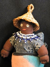 #1776  Early 20th Century Souvenir Lesotho Doll from Southern Africa, circa 1930s  **SOLD** December 2019