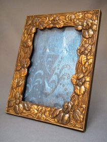 #1762  Art Nouveau Metal Photograph / Picture Frame from Japan, circa 1900 - 1915