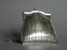 #0717 Silver Plated Ladies Evening Purse, circa 1900-1930 **SOLD**