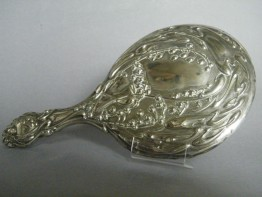 #1146 Art Nouveau Ladies Hand Mirror, circa 1890-1910 **SOLD**