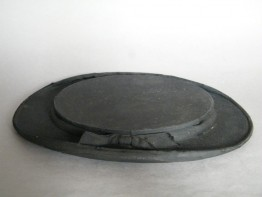 #1166 Victorian Black Silk Collapsible Top Hat (Opera Hat), circa 1890s **SOLD**