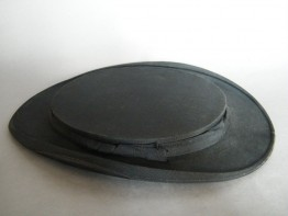 #1228 Victorian Black Silk Collapsible Top Hat (Opera Hat), circa 1890s **SOLD**