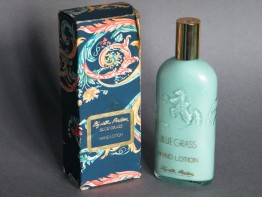 "#1679  Elizabeth Arden ""Blue Grass"" Lotion Bottle, 1970s"