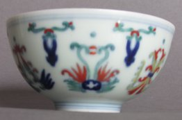 #1810  Chinese Doucai Porcelain Bowl, Daoguang Mark and Period (1821-1850) **Price on Request**