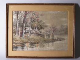 #1643  Silk Embroidered picture from Japan