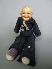 #1596  Early 20th Century Sailor Doll, circa 1920-1940