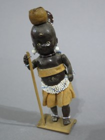 "#1609  ""Zulu Girl"" Plastic Doll from South Africa, circa 1950s - 1960s"