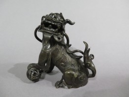 #1520  16th / 17th Century Chinese Ming Dynasty Bronze Lion circa 1550 - 1640
