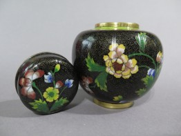 #1530  Cloisonne Enamel Jar from China, circa 1890-1910