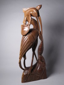 #1502 Carved Hardwood Marine Life Sculpture  **Sold**  through our Liverpool shop February 2017