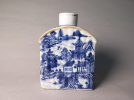 #1508 Blue & White Chinese Export Porcelain Tea Cannister, Qianlong Reign (1736 - 1795)