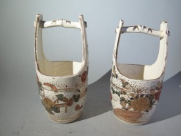 #1537  Two Miniature Earthenware Teoke from Japan, Meiji period (1868-1911)