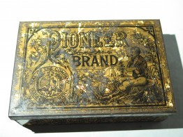#1000  Pioneer Brand (Liverpool) Golden Flake Tobacco Tin, circa 1890-1910