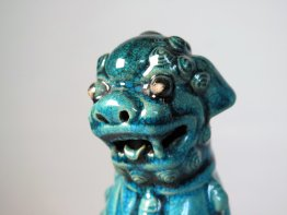 #1745 Rare Chinese Turquoise Enamelled Buddhist Guardian Lion,17th /18th Century