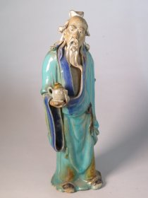 #1703  Shiwan Stoneware Figure, from China. circa 1900   **SOLD**  June 2018