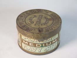 #1743  Early 20th Century 'Lockable' Players Tobacco Tin, Castle Factory Nottingham, circa 1900 - 1930