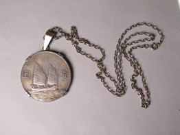 #1555  1934 Republic of China Silver Dollar / Yuan Pendant  **SOLD**   in our Liverpool shop April 2017