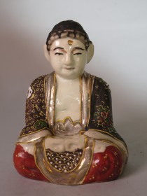 #1569  Japanese Satsuma style Buddha, circa 1900 - 1930  ** Sold**  May 2018