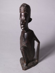 #1568  East African Carved Ebony Figure - mid 20th Century **SOLD** December 2017